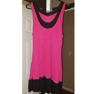 Express Magenta pink & black top and/or dress